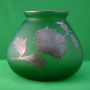 Green Vase with Silver Overlay