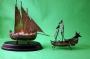 Two Silver Sailing Ships