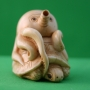 Carved Ivory Netsuke Octopus