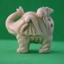 Carved Ivory Netsuke Elephant
