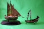 Two Silver Sailing Ships